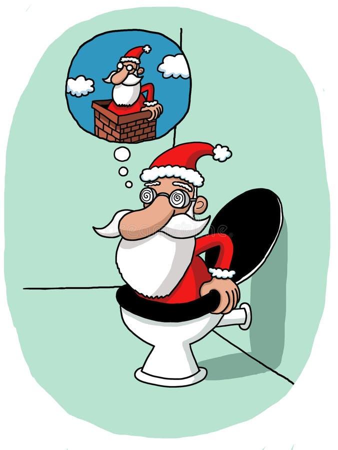 Download Santas vision problem stock vector. Image of event, bathroom - 34757473
