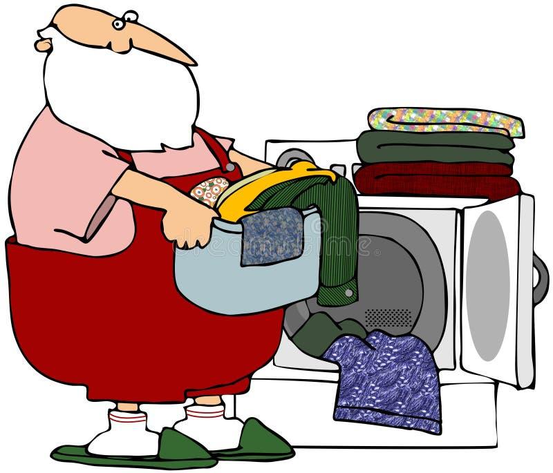 Santa's Wash Day vector illustration