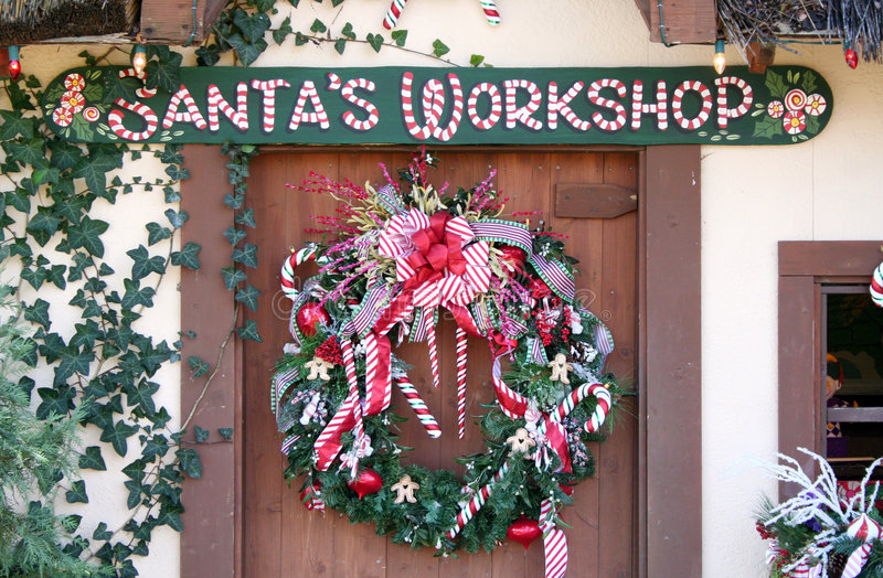 Download Santa's Workshop stock photo. Image of wreath, holiday - 7981730