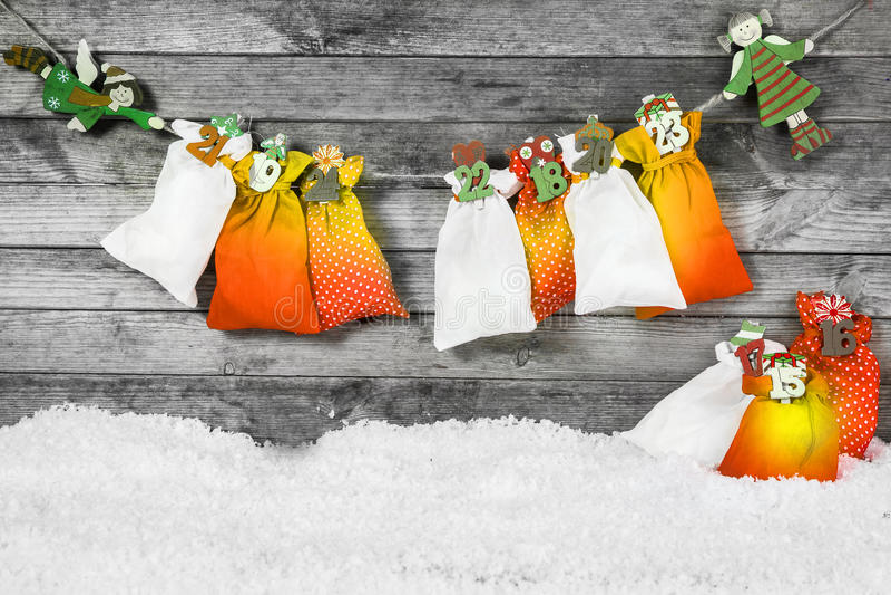 Santa Sacks pour la décoration de Noël photo stock