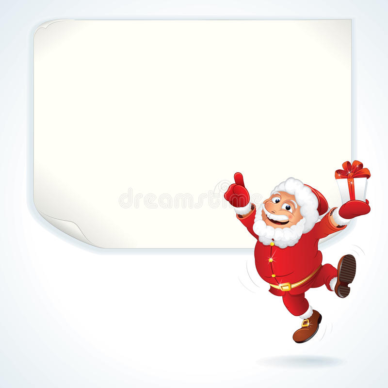 Santa Sale Sign libre illustration