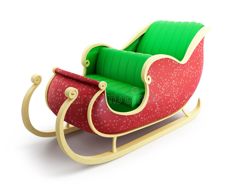 Santa sanie royalty ilustracja