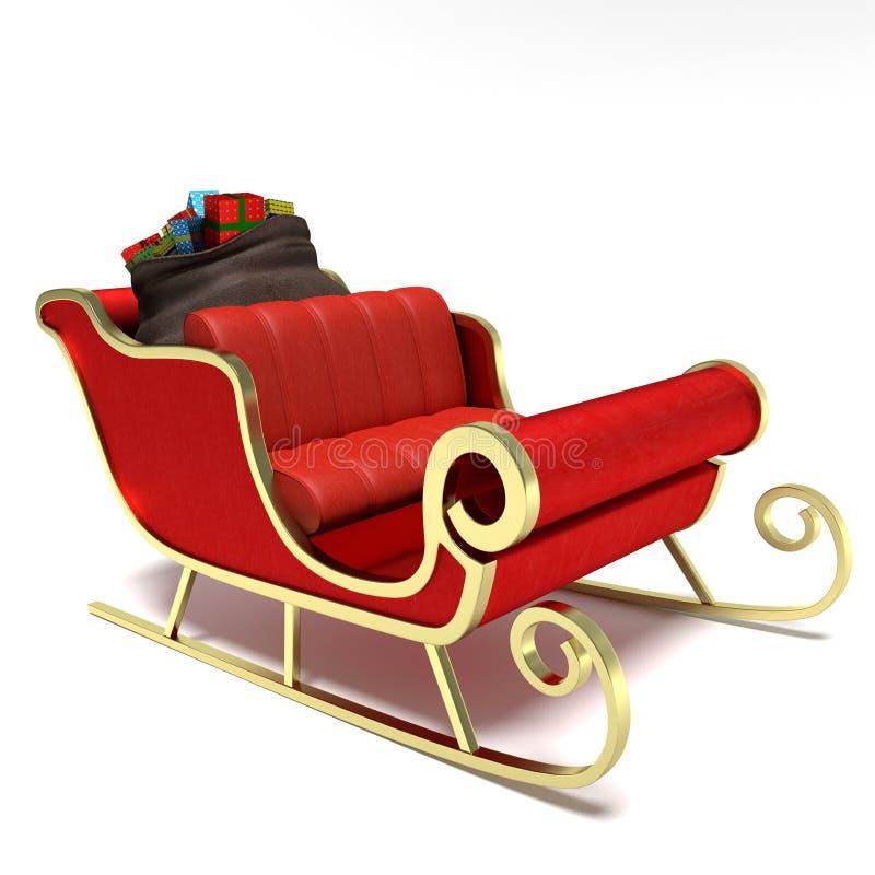 Santa sanie ilustracja wektor