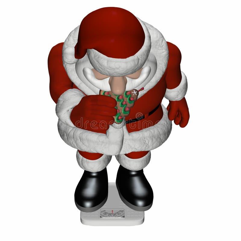 Santa Scale 3 royalty free illustration