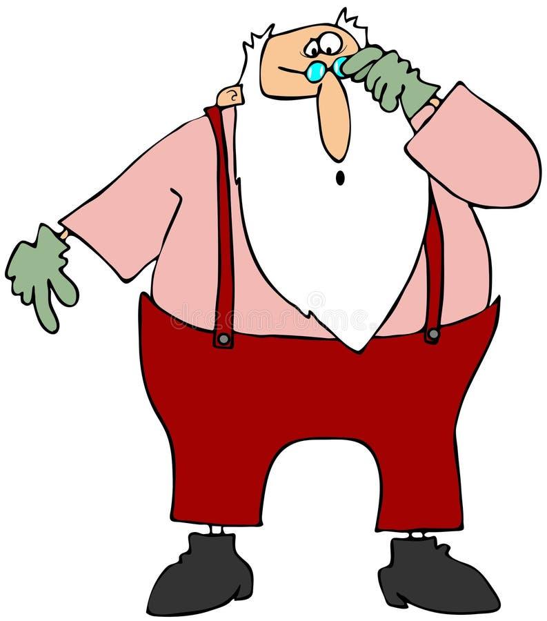 Santa sceptique illustration stock