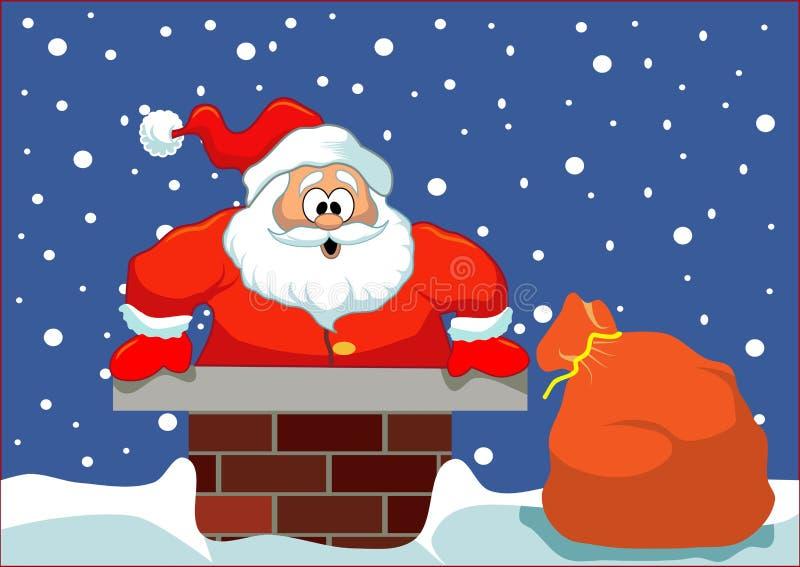 Santa se pegó stock de ilustración