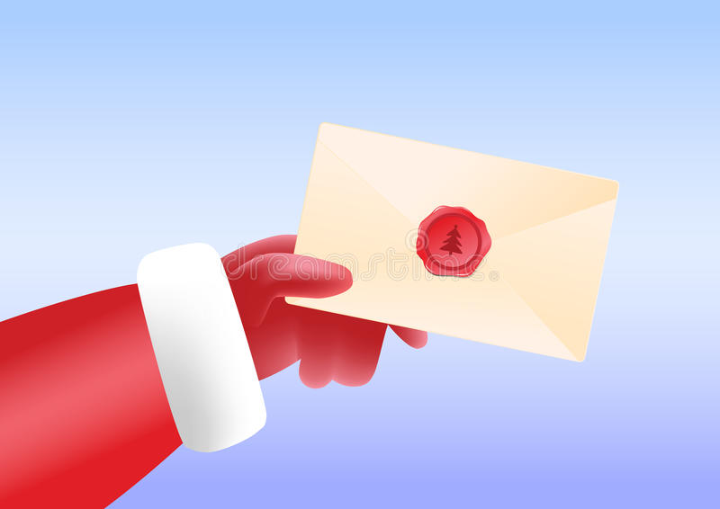 Santa Send Post stock afbeelding