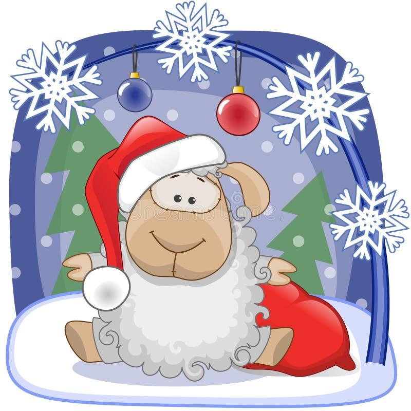 Santa Sheep illustrazione vettoriale