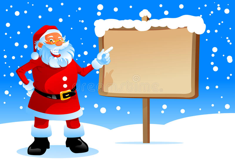 Download Santa show on the board stock vector. Illustration of claus - 16540739