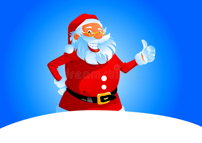 Download Santa show thumb up stock vector. Illustration of happy - 16497933