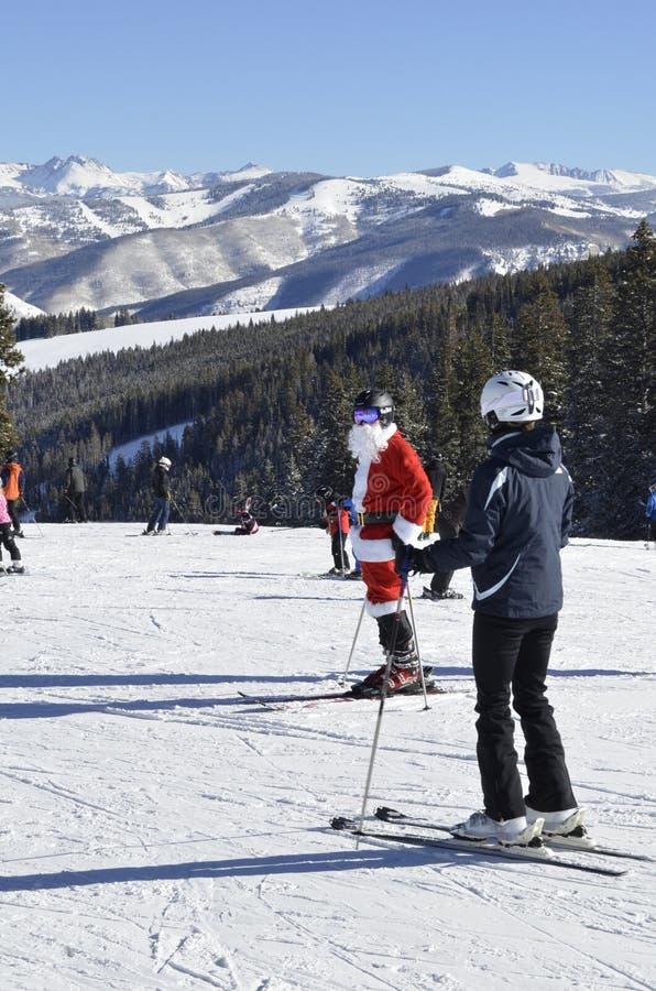 Santa Sighting; Um milagre do Natal, Beaver Creek, recursos de Vail, Avon, Colorado imagens de stock royalty free
