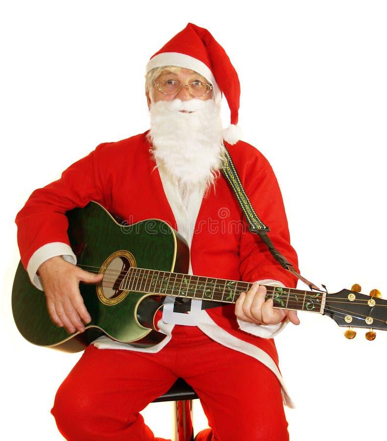 Santa Singing stock images