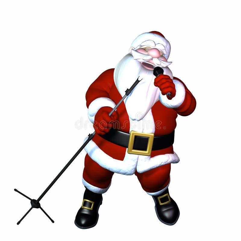 Santa Singing ilustração royalty free