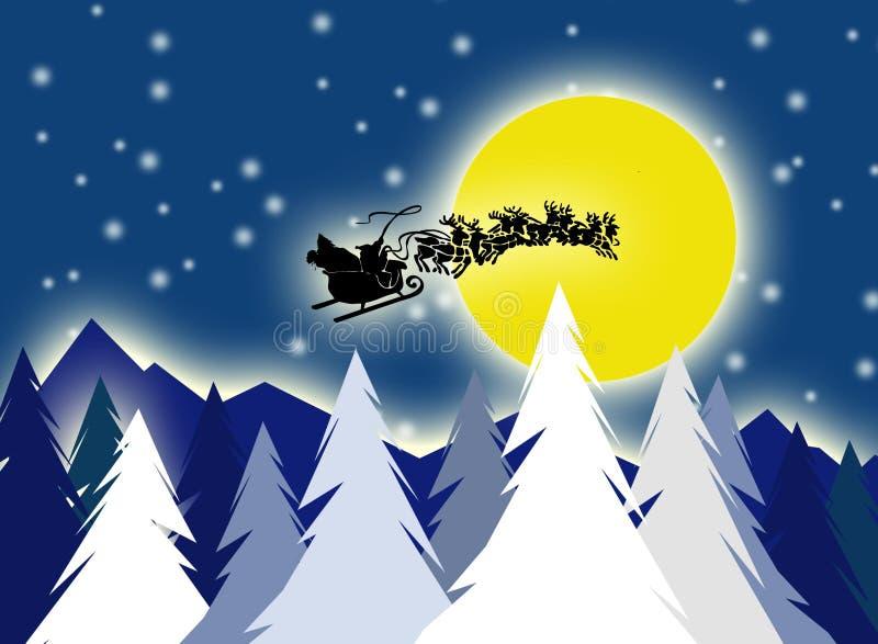Santa On Sky Stock Photo