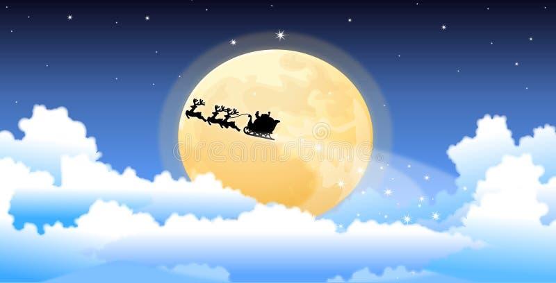Santa sled vector illustration