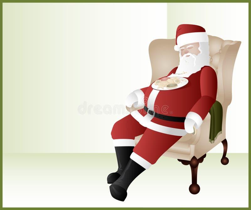 Download Santa Sleeping stock vector. Image of plate, santa, crumbs - 17913114
