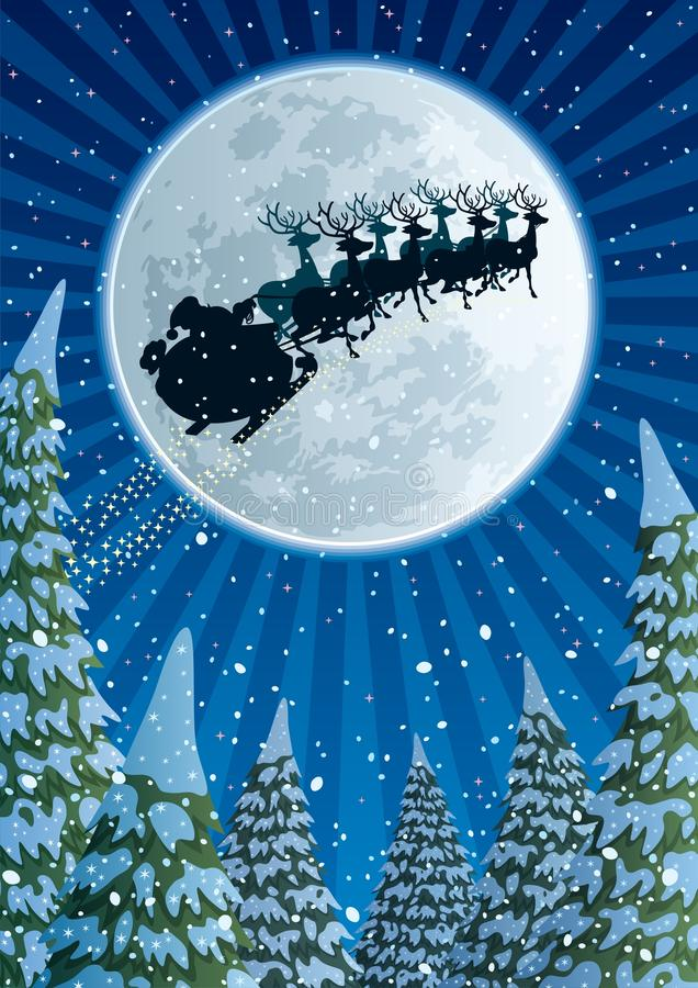 Santa Sleigh illustration libre de droits