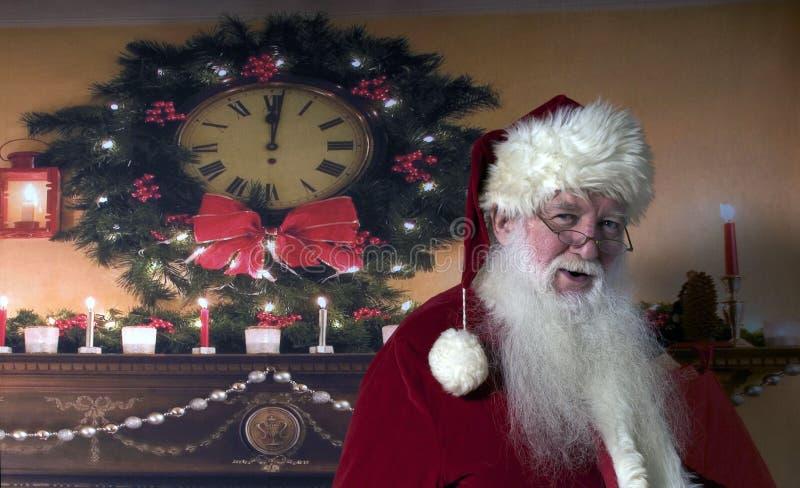 Santa Smiling stock foto's