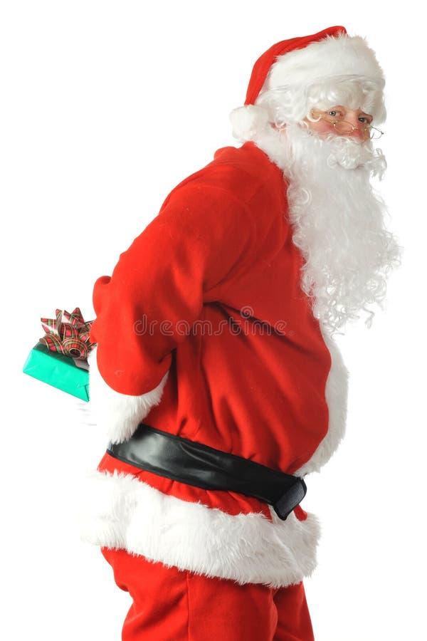 Santa Sneaky immagine stock