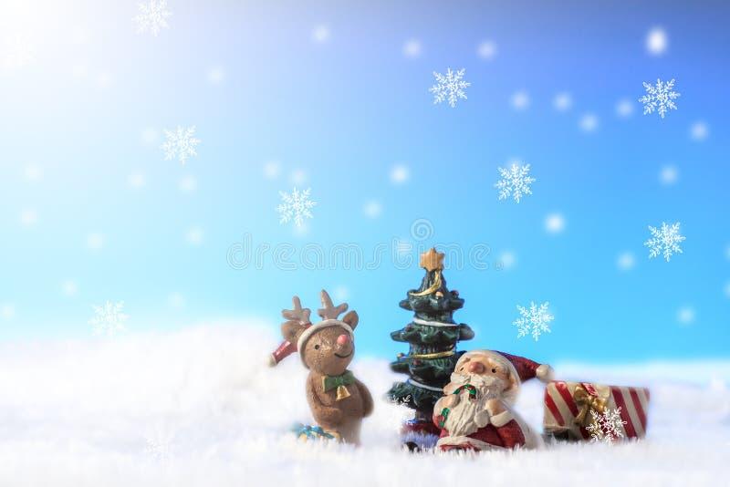santa snow arkivfoton