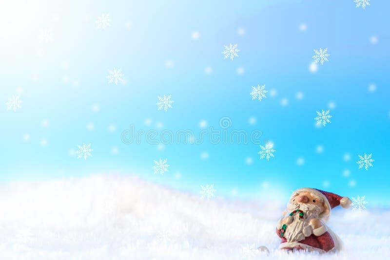 santa snow arkivbild