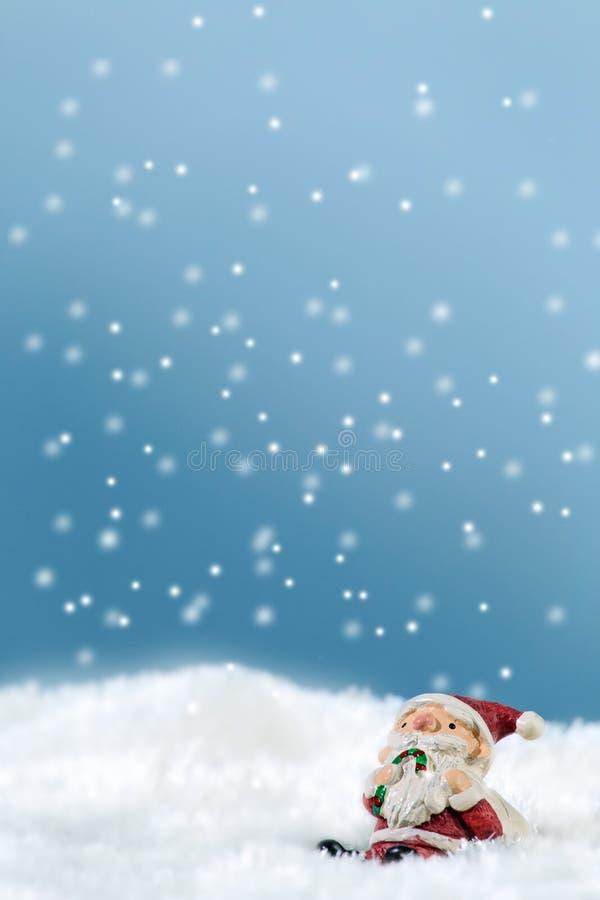 santa snow fotografering för bildbyråer
