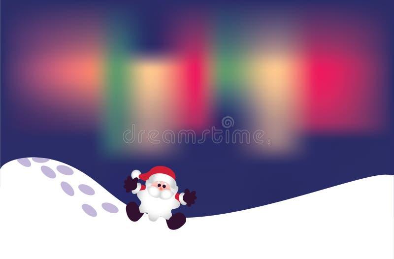 Download Santa on snow stock vector. Image of effect, polar, phenomena - 11658929