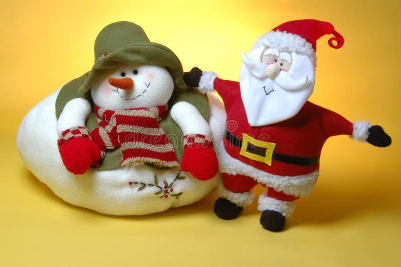 Download Santa and the snow man stock image. Image of yellow, santa - 228517