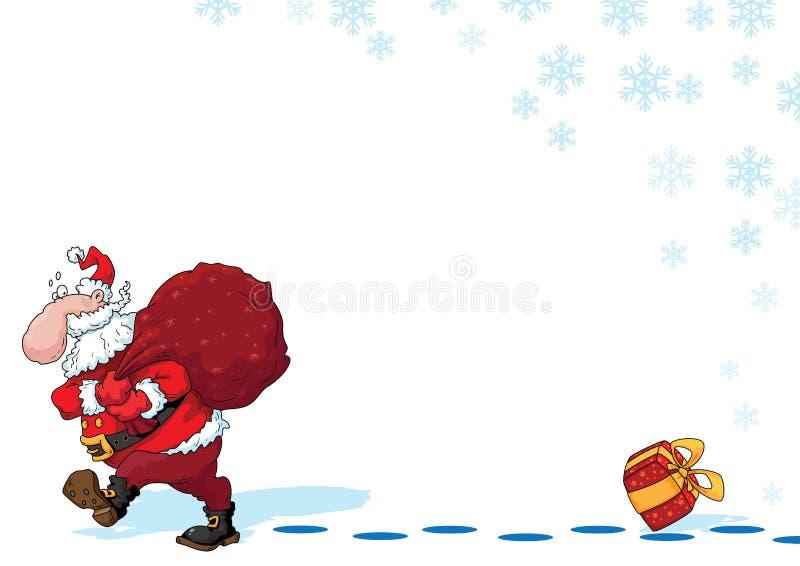 Santa And Snowflakes Royalty Free Stock Images