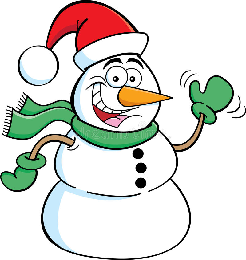 Download Santa Snowman stock vector. Image of snow, smiling, holiday - 26670632