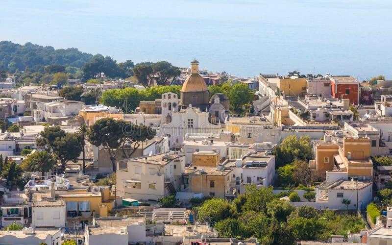 Santa Sofia Church, isla de Capri, Italia foto de archivo