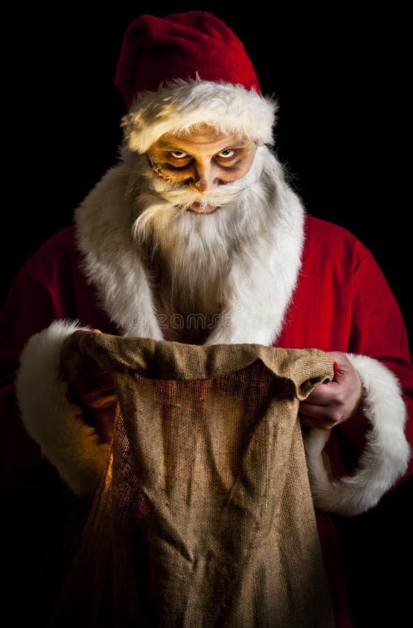 Santa spaventosa fotografie stock