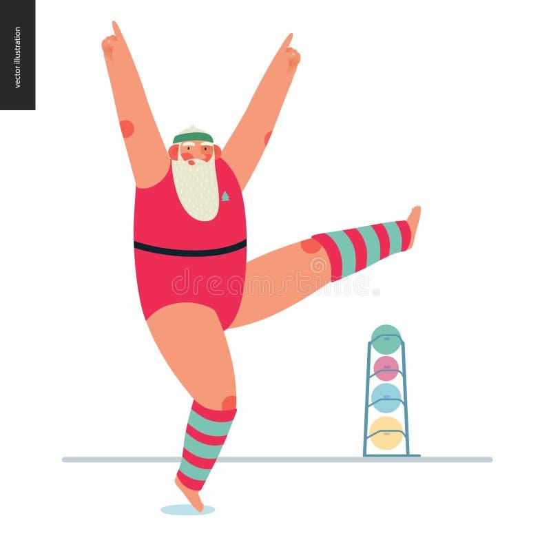 Santa sportive - aérobic illustration de vecteur
