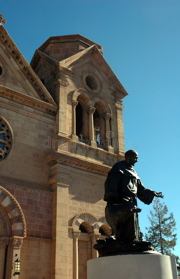 santa ST Φε Francis εκκλησιών στοκ φωτογραφία με δικαίωμα ελεύθερης χρήσης