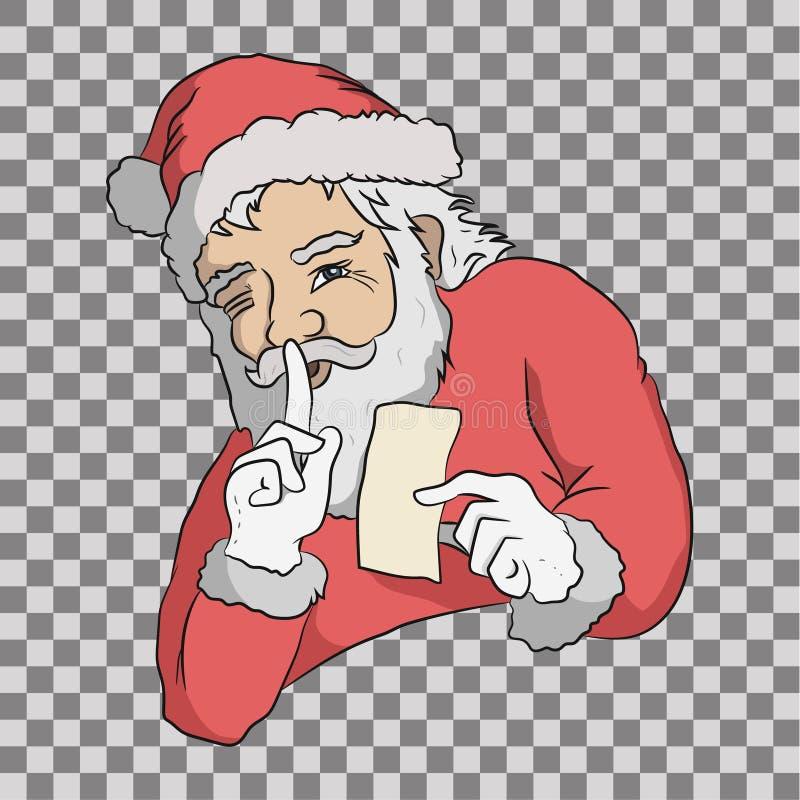 Santa sta tenendo il segreto fotografia stock libera da diritti