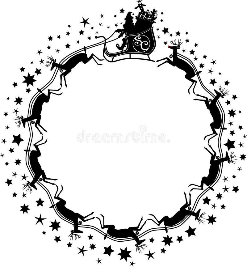 Santa_stars.jpg illustration de vecteur
