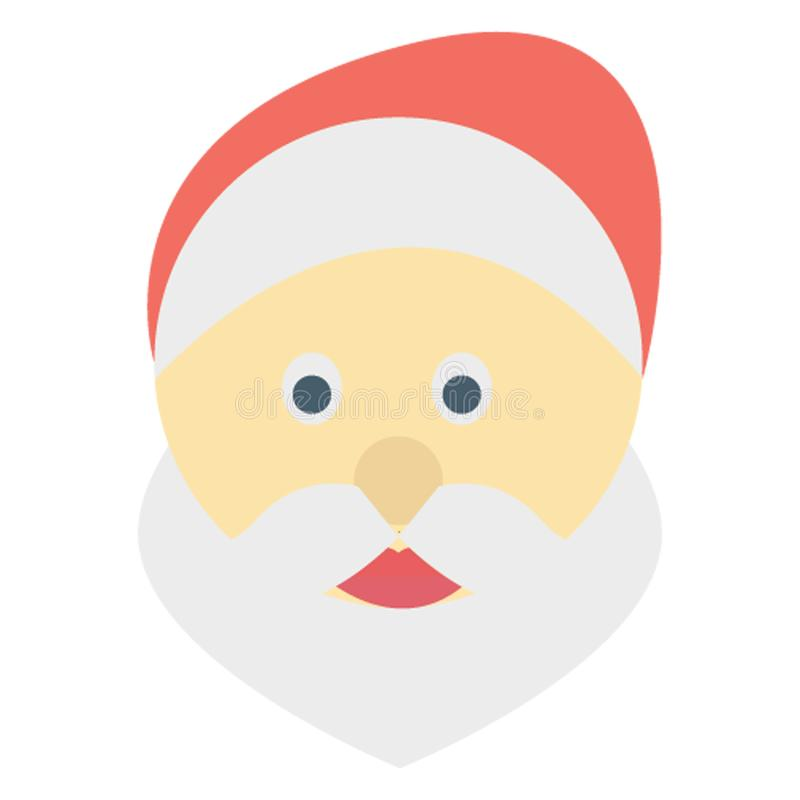 Santa Stawia czoło kolor lub redaguje Wektorowa ikona Łatwo modyfikuje zdjęcie stock