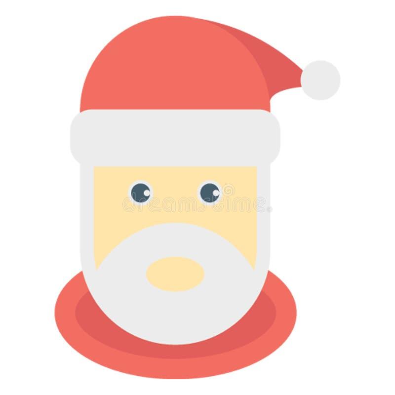 Santa Stawia czoło kolor lub redaguje Wektorowa ikona Łatwo modyfikuje obraz stock