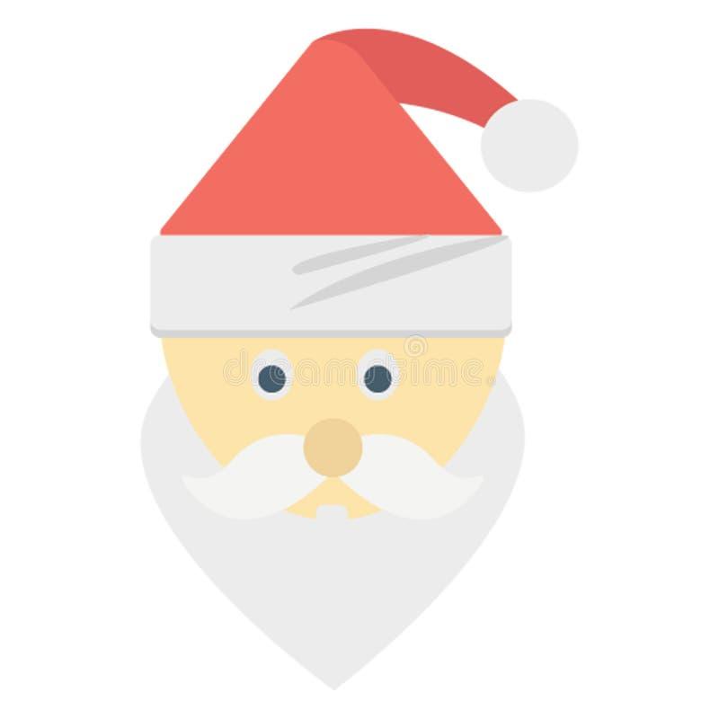 Santa Stawia czoło kolor lub redaguje Wektorowa ikona Łatwo modyfikuje ilustracji