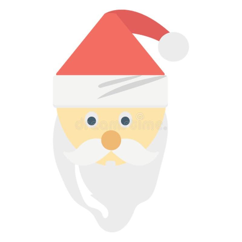 Santa Stawia czoło kolor lub redaguje Wektorowa ikona Łatwo modyfikuje royalty ilustracja