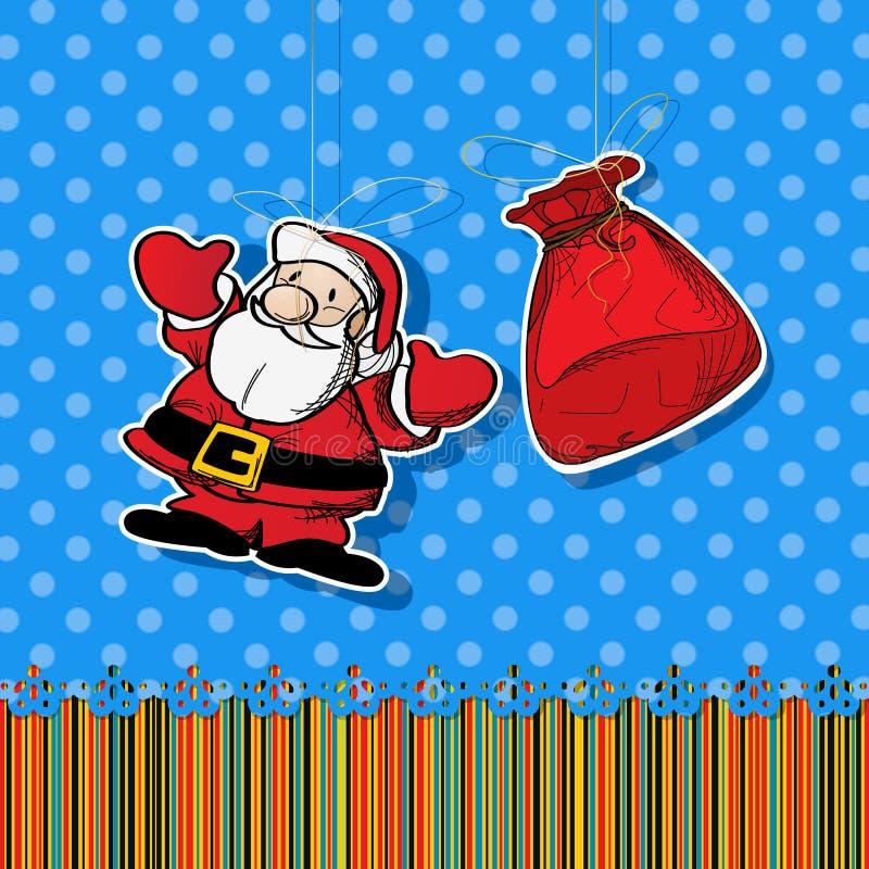 Santa Sticker Royalty Free Stock Photography