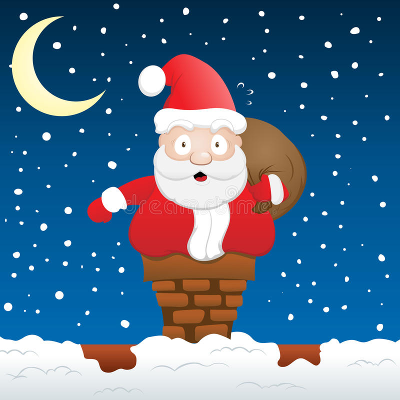 Download Santa Stuck stock vector. Image of smile, december, cartoon - 13965858