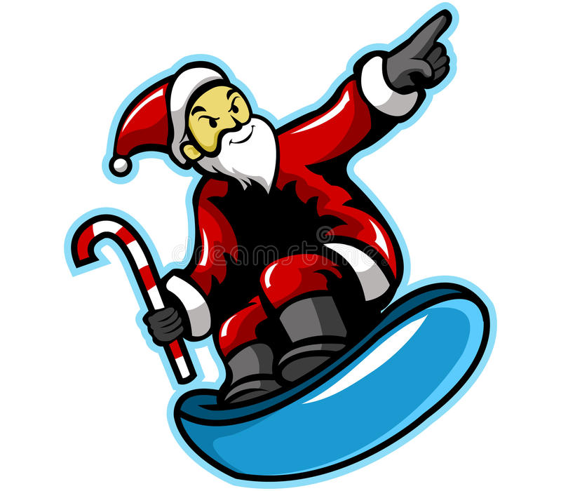 Santa Surfer vector illustratie