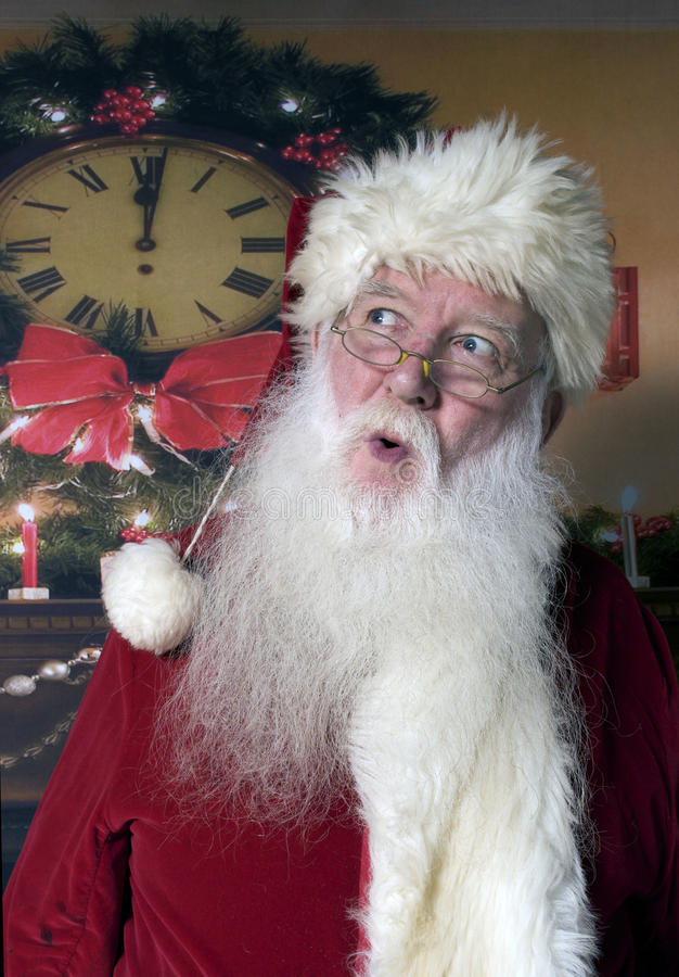 Santa With Surprised Expression stock fotografie