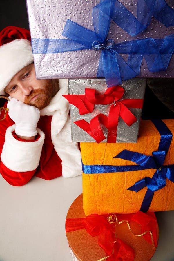 Santa swamp with presents royalty free stock photo