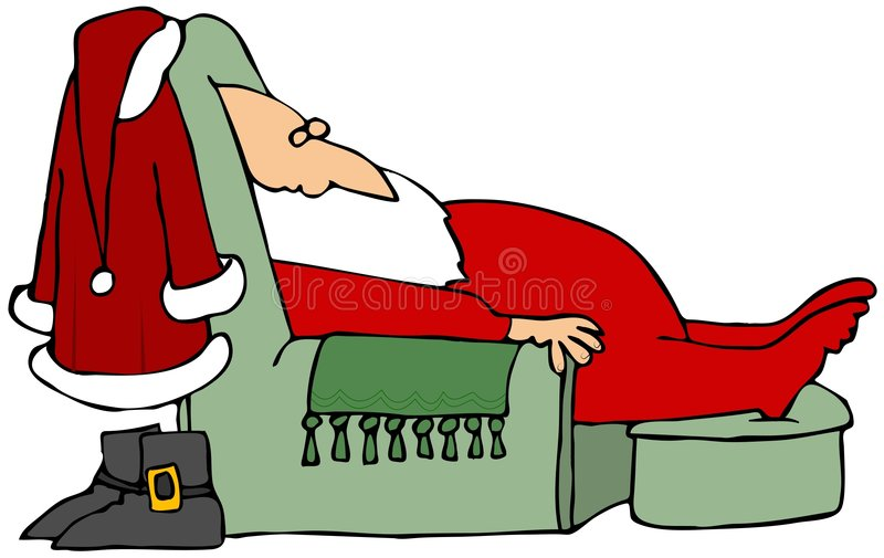 Santa Taking A Nap Royalty Free Stock Images