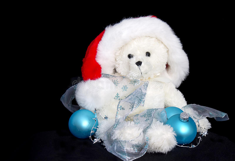Santa Teddy Decoratons lizenzfreie stockfotos