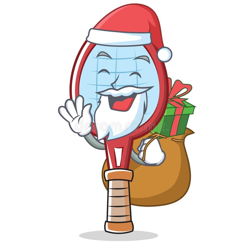 Santa tenisowego kanta charakteru kreskówka ilustracji