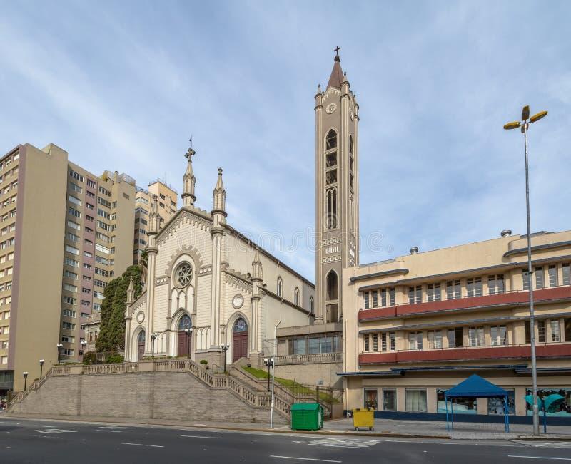 Santa Teresa d ` Avila katedra - Caxias robi Sul, rio grande robi Sul, Brazylia zdjęcia stock