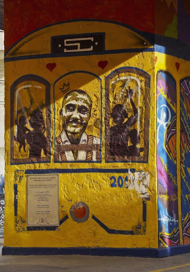Santa Teresa Tram i Rio de Janeiro arkivbild